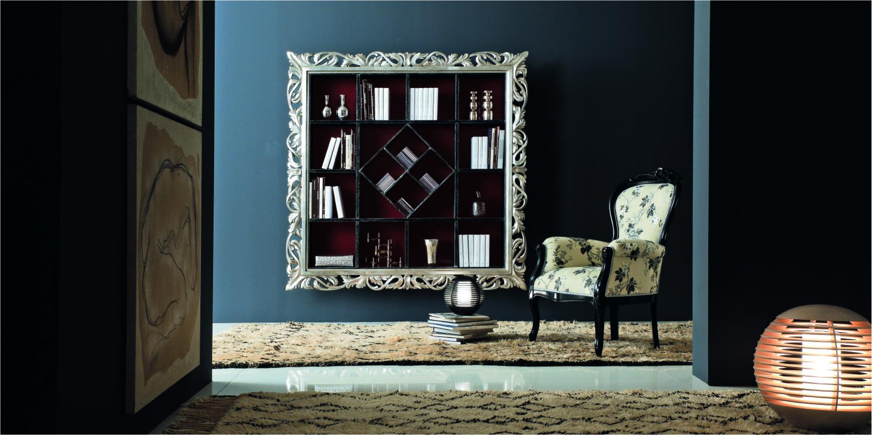 Библиотека навесная 02 giorgiocasa memorie veneziane интерье.