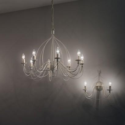 Освещение Люстра CORTE SP8 BIANCO ANTICO, RUGGINE от IDEAL-LUX