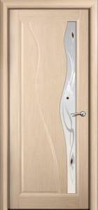 Двери шпонированные Ирен беленый дуб от Milyana