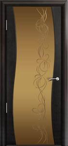 Двери шпонированные Омега эбеновое дерево от Milyana