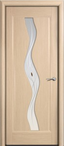 Двери шпонированные Веста (Волна) дуб белёный от Milyana